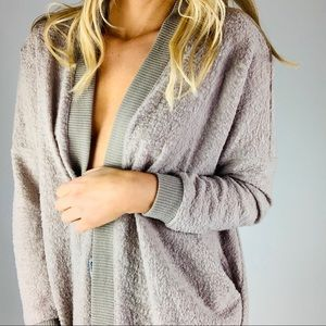 Urban Outfitters Fuzzy Open Front Cardigan Sweater